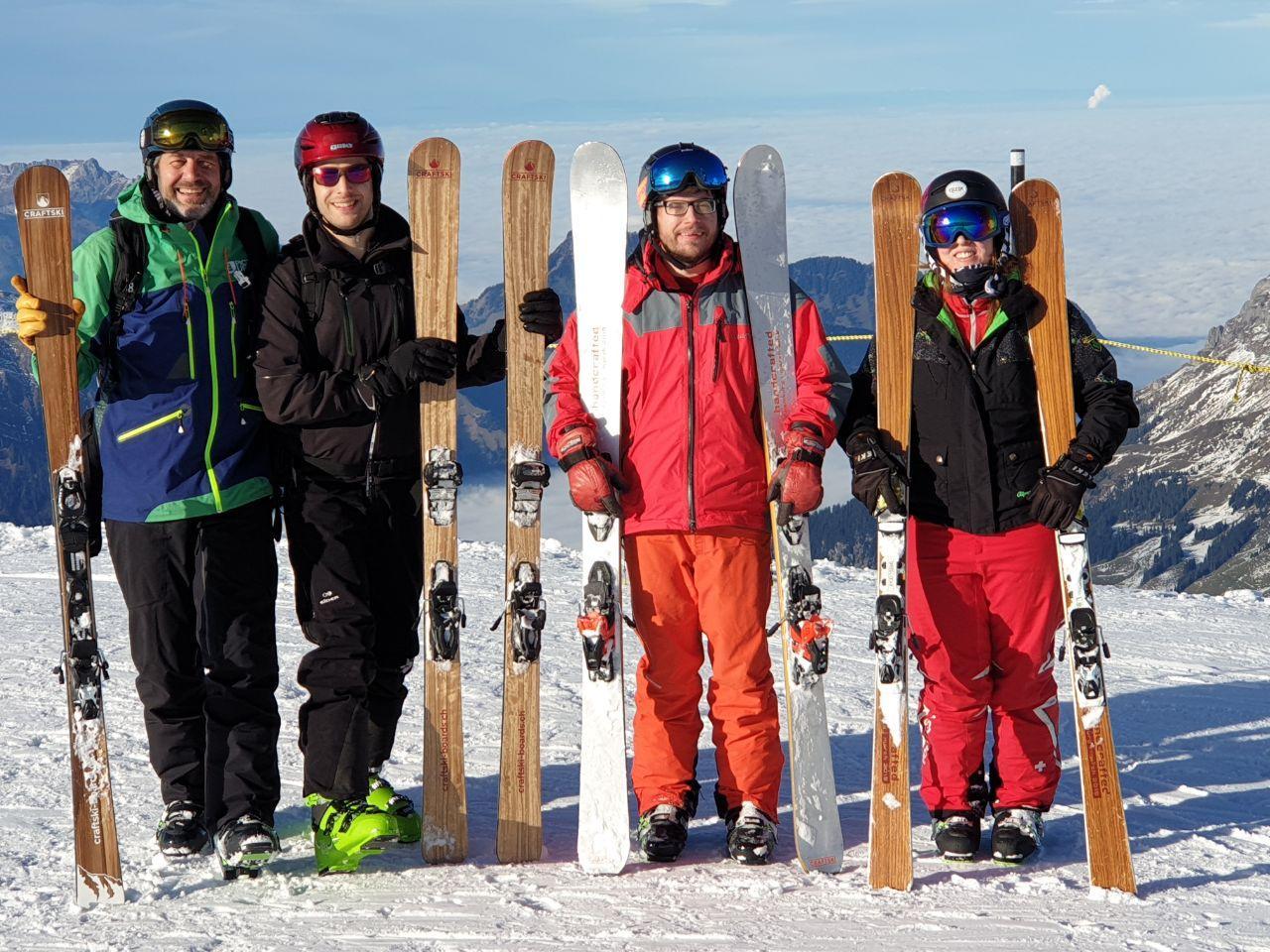 Craftski-Crew beim Skitest